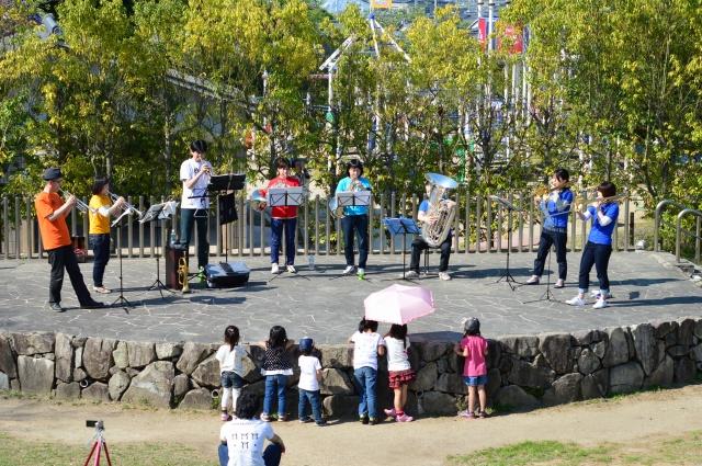 2015/04/26 田辺公園野外ライブ金管八重奏