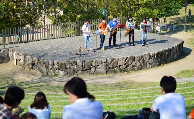 2015/04/26 田辺公園野外ライブ サックス五重奏